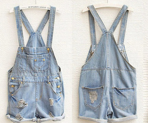 fashion, overalls, and jeans image