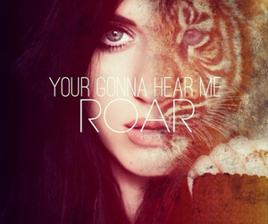 roar, katy perry, and tiger image