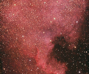 galaxy, stars, and red image