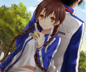 anime couple, echizen ryoma, and ryuzaki sakuno image
