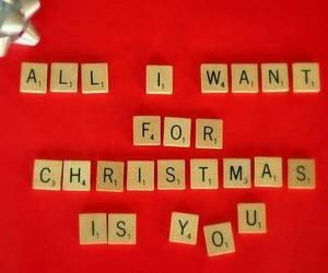 christmas, love, and scrabble image