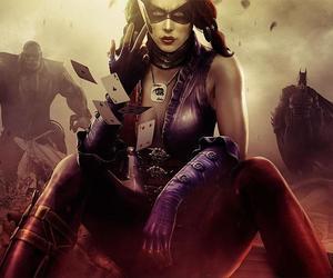 harley quinn, batman, and injustice image