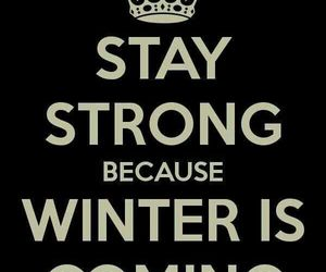 winter, keep calm, and winter is coming image