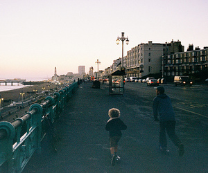city and boy image