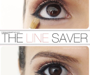 beauty, makeup, and eyeliner image