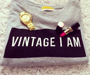 fashion, vintage, and lipstick image