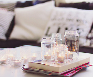 candle, room, and book image
