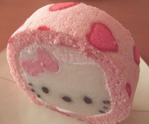 hello kitty, food, and cake image