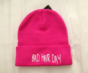 pink, hair, and hat image