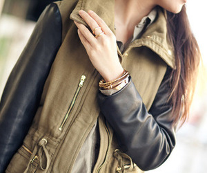 jacket, army, and clothes image