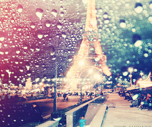 paris, eiffel tower, and rain image