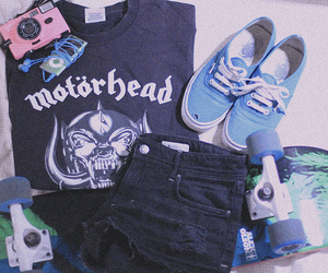 blue, motorhead, and skate image