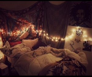 bedroom, cosy, and hipster image