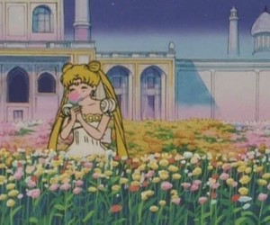 flowers, anime, and sailor moon image
