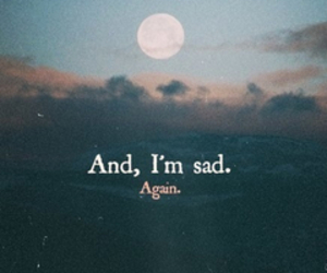 sad, again, and moon image