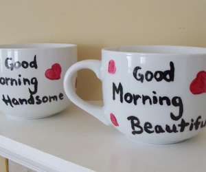 coffee, coffee cup, and couple image