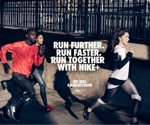 faster, nike, and run image