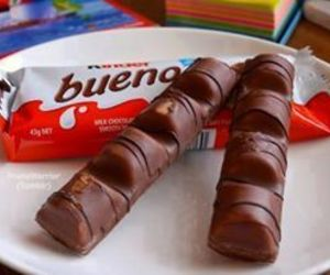 chocolate, kinder bueno, and food image