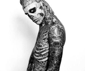 tattoo, rick genest, and boy image