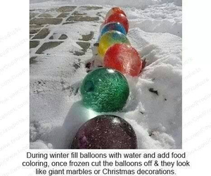 balloons, winter, and christmas image