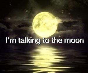 moon, clouds, and Lyrics image
