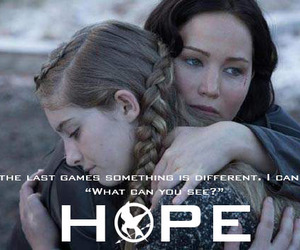 hope, primrose, and the hunger games image