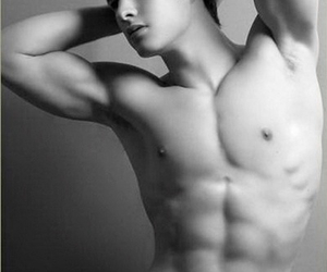 abs, black and white, and damn image