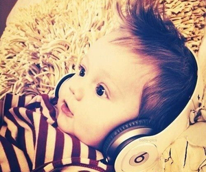 baby, music, and boy image