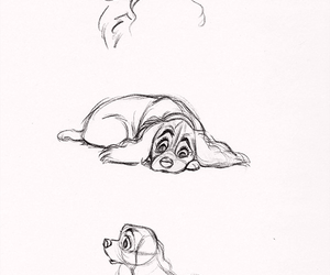disney, drawing, and dog image