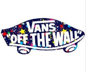 vans, off the wall, and space print image