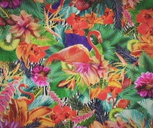 colorful, floral, and kitsch image