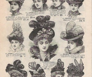 1800s, millinery, and 19th century image