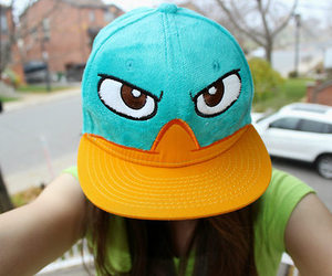 hat, perry, and cap image