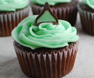 cupcake, mint, and chocolate image