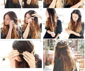braid, hair, and diy image