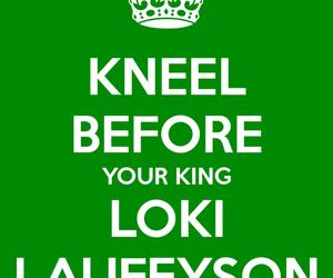 kneel and loki image