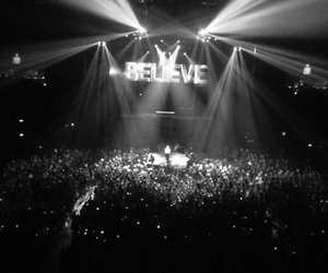 black and white, 2013, and believe tour image