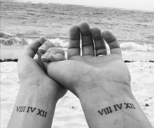 couple, hands, and tattoo image