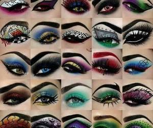 eyes, art, and makeup image