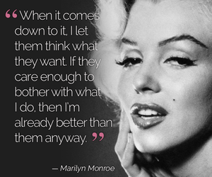 quote, Marilyn Monroe, and monroe image