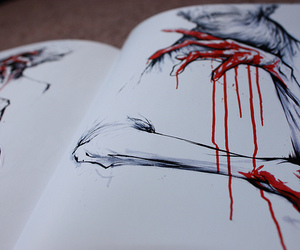 blood, art, and drawing image