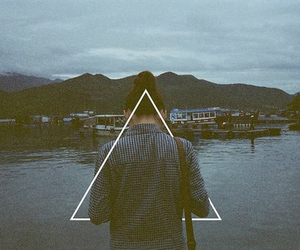 girl, triangle, and hipster image