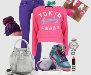 outfits, pink, and Polyvore image