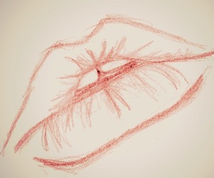 draw, lips, and sketch image