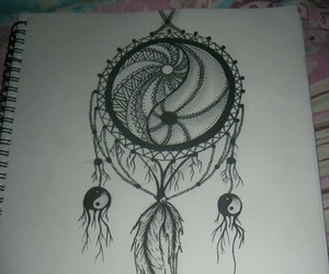 drawing, art, and dream catcher image