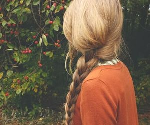 blonde, braided, and fashion image