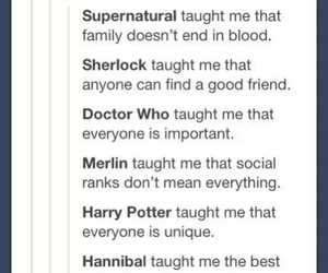 doctor who, hannibal, and merlin image