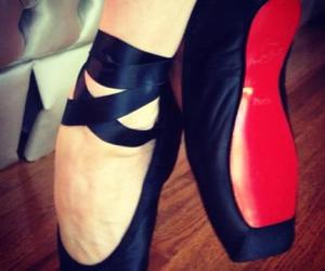ballet, louboutin, and black image