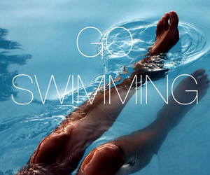 fitness, legs, and swimming image
