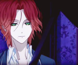 anime, green eyes, and vampire image